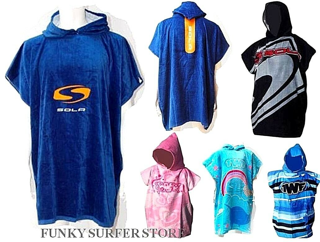 Adult Kids Hooded Poncho Changing Towel Robe-Beach Towel-Surf Kitesurf Large !